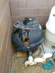 Old, broken heater